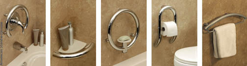 Clever ideas for using grab bars.