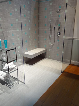 Barrier free showers prevent falls.