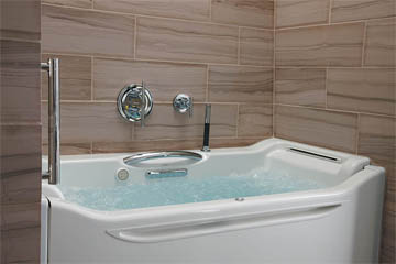 "Kohler's ""Rising Wall"" bathtub"