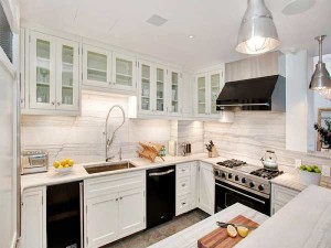 Trend Of Black Appliances And White Cabinets