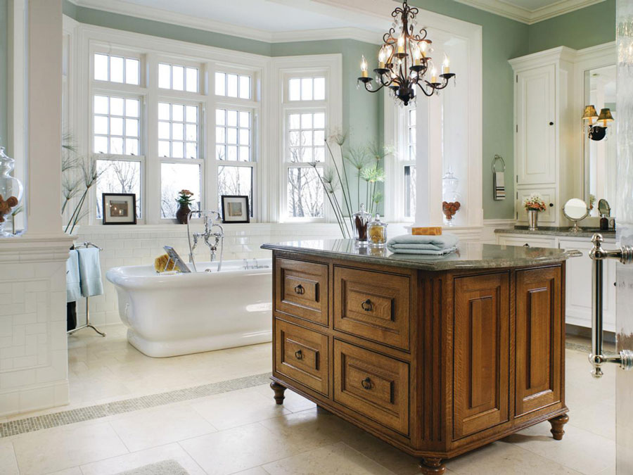 2016 Bathroom Trends incorporate white, soft neutrals, and natural elements like wood, stone, glass, and metal.