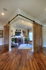 Barn doors create new room