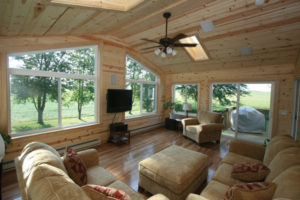 A sunroom addition offers the healthful benefit of natural light.